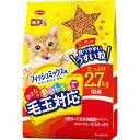 日本ペット ミオ おとなのおいしくって毛玉対応 フィッシュミックス味 2.7kg
