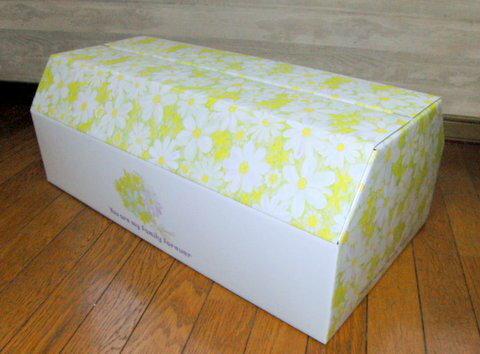 ペットの棺 ブーケ【中型】【即日発送】サイズ長さ:68.6cm×幅36cm×高さ25cm