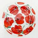 ■スペイン製■ハエン 絵皿 レッドフラワー