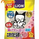 ライオン ニオイをとる砂 香りプラス フローラルソープの香り 5.5L 10%増量品【cg_sale201701】