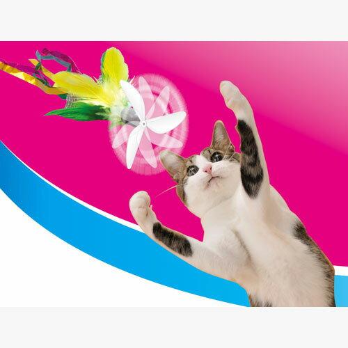 ペティオ ぷろぺらじゃらし グリーンフェザー 猫用おもちゃ じゃらし 猫 全猫種 短毛猫 長毛猫 Petio