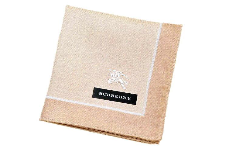 【メール便OK】 バーバリー BURBERRY メンズ ハンカチ/ ベージュ系 ブランド ギフト プレゼント お返し 父の日 男性 紳士 【あす楽】