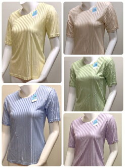 100%半袖 T 襯衫精細光滑針織絲