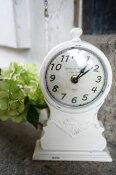 【人気商品再入荷】アンティーク風 時計 HOTEL DU MONDE クラシカル フレンチテイスト ホワイト 卓上(SS)置き時計