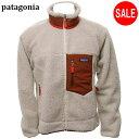 パタゴニア patagonia 2020 フリースジャケット クラシック レトロ X メンズ 23056 FA20 Natural w/Barn Red (NBAR) XL ナチュラルレッド