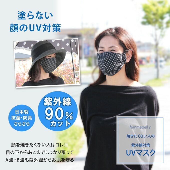 塗らない顔のUV対策 UVカットマスク シミができやすい部分をしっかりカバー紫外線対策【日本製】【ネコポス可】[M便 1/5] uvm