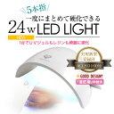 【宅配便】24W UV LEDライト パールホワイト[ ジェル ジェルネイル ネイル LEDライト UVライト ジェルネイルキット ]
