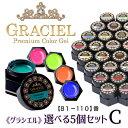 【宅配便】GRACIELカラージェル5個セットC【D81-D...