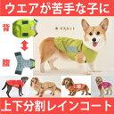 犬 レインコート 大型犬 着せやすい犬用レインコート イージ...