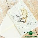 フェレットグリーティングカード 寄り添って眠るフェレット NO.905(封筒付き) フェレット 手紙 カード メッセージカード 雑貨 ステーショナリー グッズ ギフト 贈り物