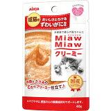MiawMiaw 奶油pouch 堪察加拟石蟹风味40g ×12个[MiawMiaw クリーミーパウチ ずわいがに風味 40g ×12コ]