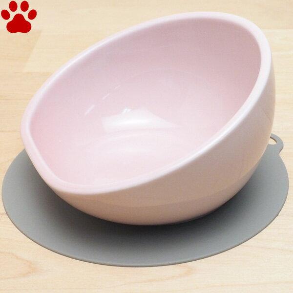 【40】 ハリオ 中型犬用フードボウル マルプレ ペールピンク 滑り止めシリコンマット付き 食器 陶器 フードボール お洒落 シンプル モダン