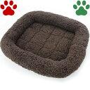 【25】 [定番] ペットプロ 超小型犬用/猫用 マイライフベッド SSサイズ 42x39cm ブラウン ベッド ふわふわ 暖か シンプル 冬