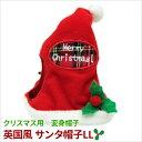 【送料無料メール便】変身 帽子 英国風 サンタ帽子 LL【犬 クリスマス】