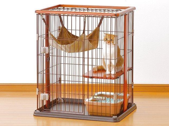 送料無料ボンビ猫用ケージウッドワンサークルキャットミニ猫用品猫(ねこネコ)ペット用品ペットキャットケ