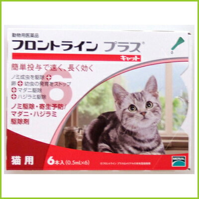 メール便で送料無料猫用フロントラインプラス6本動物用医薬品ノミ卵幼虫寄生駆除液体ダニマダニシラミ猫用