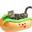 【送料無料】【犬猫用 ベッド】ポンポリース キャラクターカドラー ホットドッグ Mサイズ ベッド カドラー マット 寝床 ユニーク 滑り止め 犬用品 犬(いぬ・イヌ) 猫用品 猫(ねこ・ネコ) ペット ペット用品 ペットグッズ