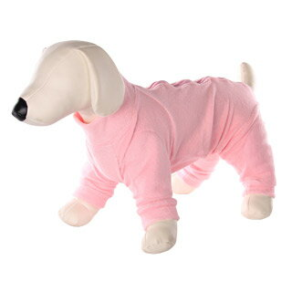 【ペットベリー】犬の床ずれ予防パッド付介護ドッグウェア ピンク S