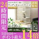 【24Hポイント10倍5日0時〜】ケージ ゲージ 猫 ウッディキャットケージ 2段 PWCR-962