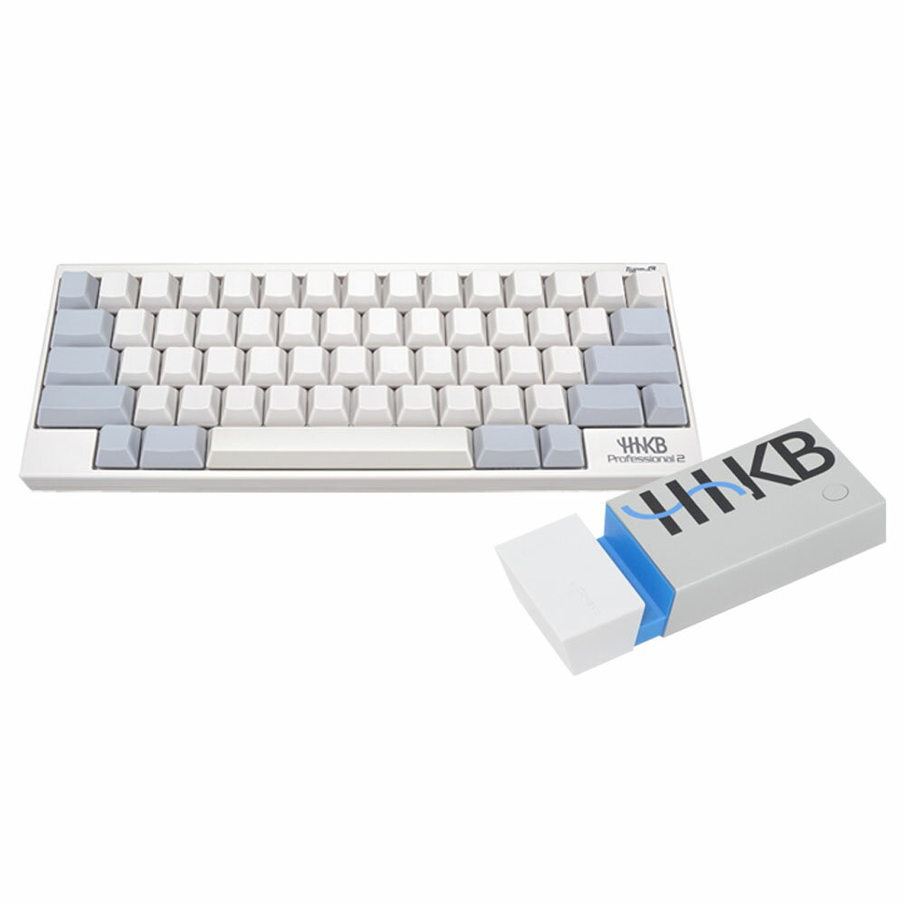 【送料無料】Happy Hacking Keyboard Professional2 Type-S 白/無刻印(英語配列)EneBRICK セットKB400WNS-EB01AH