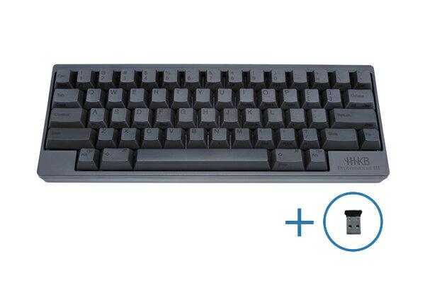 【送料無料】PFU製Happy Hacking Keyboard Professional BT 英語配列/墨(英語配列キーボード) Bluetooth-USBアダプタセット KB600B-BTUSBA