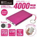 日本トラストテクノロジー 大容量USB モバイルバッテリー リチウムイオンポリマー電池搭載 4000mAh Mobile Power Bank 4000