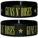 GUNS N ROSES ガンズアンドローゼズ (デビュー35周年記念 ) - LOGO ラバーブレスレット / リストバンド 【公式 / オフィシャル】