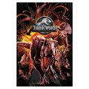JURASSIC PARK ジュラシックパーク - Jurassic World Fallen Kingdom / 炎の王国モンタージュ / ポスター 【公式 / オフィシャル】