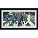 BEATLES ビートルズ (映画『The Beatles:Get Back』公開決定 ) - ABBEY ROAD (Premium Bigサイズ 50 x 100cm) / 額入りフォトボード / インテリア額 【公式 / オフィシャル】