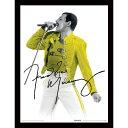 QUEEN クイーン (結成50周年記念 ) - Freddie Mercury / Yellow Jacket / 額入りフォトボード / インテリア額 【公式 / オフィシャル】