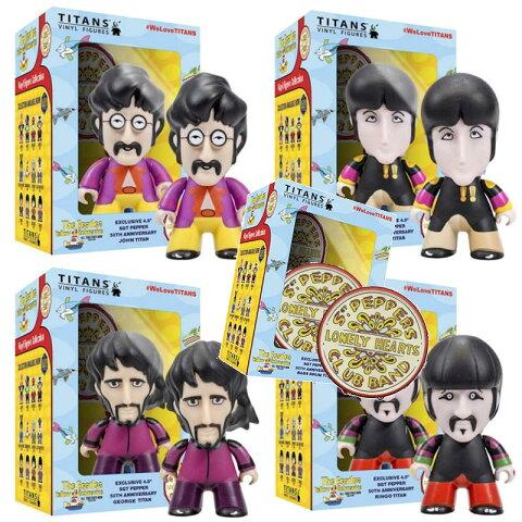 BEATLES ビートルズ ビートルズ - SGT. PEPPERS 4体セット + ドラムロゴ / フィギュア・人形 / フィギュア・人形 【公式 / オフィシャル】