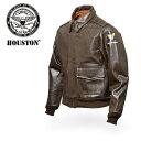 【送料無料】HOUSTON A-2 レザー・フライトジャケット 【ヒューストン flight jacket】メンズ ミリタリー カジュアル アメカジ カウハイドレザー