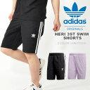 サーフパンツ adidas ORIGINALS アディダス オリジナルス メンズ HERI 3ST SWIM SHORTS 3本線 水着 海水パンツ ボードパンツ ビーチショーツ スイムウェア トランクス 2018春夏新作の画像