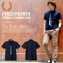 送料無料 半袖 ポロシャツ FRED PERRY フレッドペリー メンズ Tie Polo Shirt ネクタイ付き シャツ 紳士 ギンガムチェック 鹿の子 2013新作 21%off