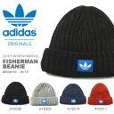 ニット帽 アディダス オリジナルス adidas Originals FISHERMAN BEANIE メンズ レディース ロゴ ビーニー 帽子 ニットキャップ 裏フリース 折り返し
