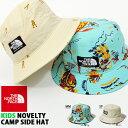 送料無料 子供 ハット THE NORTH FACE ザ・ノースフェイス Kids Novelty Camp Side Hat ノベルティキャンプサイドハット キッズ 紫外線防止 帽子 アウトドア nnj01804