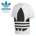 送料無料 半袖 Tシャツ adidas ORIGINALS アディダス オリジナルス メンズ BIG TREFOIL TEE ビッグロゴ ロゴTシャツ プリントTシャツ ホワイト 白 2020春新作 GVT85
