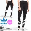 ロングタイツ adidas Originals アディダス オリジナルス レディース LRG LOGO TIGHTS ビッグロゴ レギンス タイツ ボトムス スポーティー アスレジャー ブラック 黒 2020春新作 IHS17