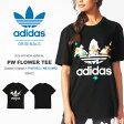 半袖Tシャツ adidas Originals = PHARRELL WILLIAMS アディダス オリジナルス レディース ジェンダーレス HERI PW FLOWER TEE ファレル・ウィリアムス コラボ ロゴ 花柄 ロゴTシャツ プリントTシャツ 2016春夏新作