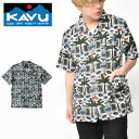 送料無料 半袖 シャツ KAVU カブー Double Down ダブルダウン メンズ 柄シャツ 総柄 アウトドア 2020夏新作 【あす楽対応】