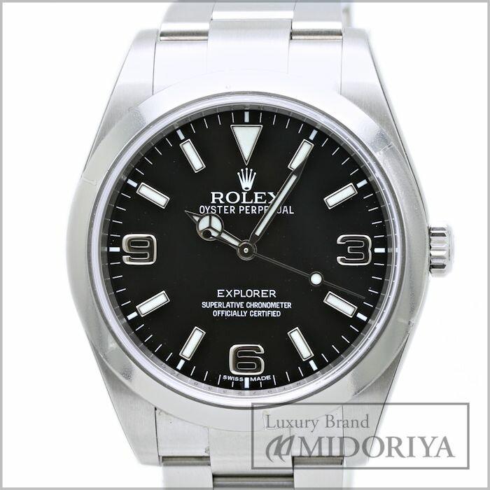 ロレックス☆未使用 ROLEX エクスプローラー1 214270 黒文字盤 メンズ 自動巻き ランダム番/33907 【中古】 腕時計
