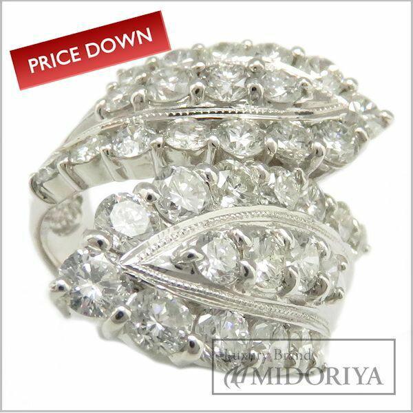 指輪 ダイヤモンド3.73ct リング13.5号 Pt900/62979【】 ■6/16 本日ポイント最大17倍!■