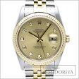 ロレックス ROLEX デイトジャスト 10Pダイヤ 16233G シャンパンゴールド メンズ/33921 【中古】 腕時計