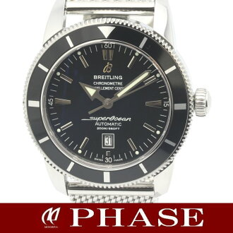 46 BRETLING( Brightman ring) supermarket ocean heritage black A17320 SS self-winding watch men /31087 fs3gm