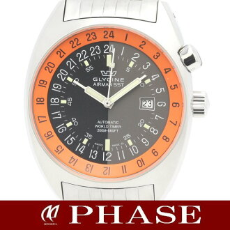 (Glycine) GLYCINE Airman SST-06 SS 24 hour display mens automatic winding / 31100