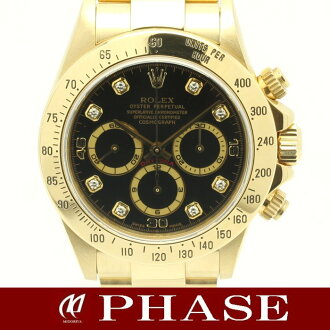 "ROLEX (Rolex) ""16528 G Cosmograph Daytona 18 KYG solid' DIA 8 p automatic self-winding men's black dial / 30867 fs3gm"