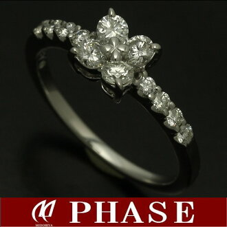 Tasaki Shinju K18WG diamond 0.43ct ring #9/96029