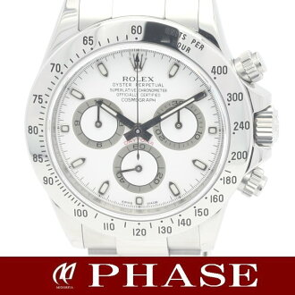 Rolex 116520 Daytona SS white-board men's roulette automatic winding / 31249