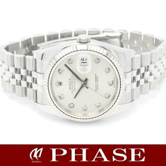 Rolex 116234 new. G Datejust diamond 10 p random number mens automatic winding / 31250