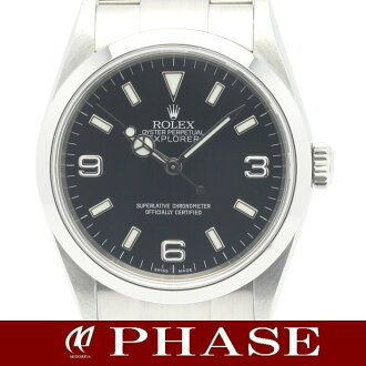 Rolex 114270 Explorer 1 SS black dial Z-mens automatic winding / 31312 fs3gm
